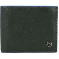 Piquadro Blue Square Special Portfel RFID skórzana 11,5 cm green ZAPISZ SIĘ DO NASZEGO NEWSLETTERA, A OTRZYMASZ VOUCHER Z 15% ZNIŻKĄ