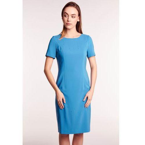 b655c89a46 Zobacz ofertę Niebieska sukienka z cyrkoniami Potis  amp  verso