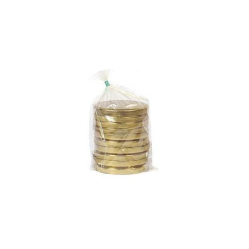 Zakrętki do słoików złote 6 zaczepowe duże średnica 82 mm (10 sztuk)