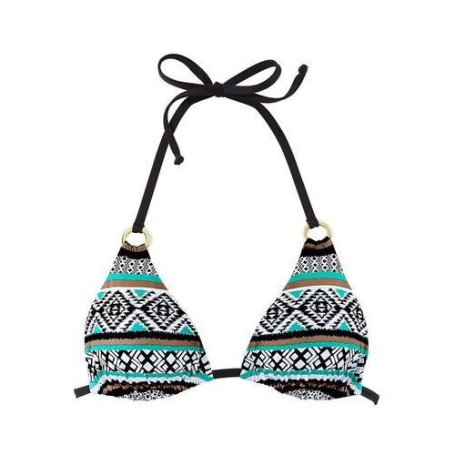 db3bf8c4cf1599 Zobacz w sklepie LASCANA Góra bikini turkusowy / brązowy / czarny / biały,  kolor brązowy