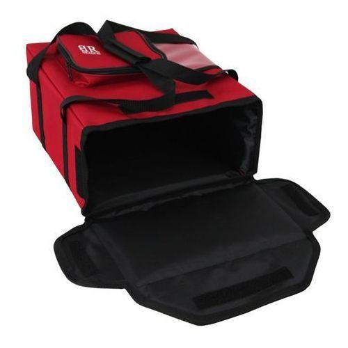 Torba do pizzy kolor czerwony na 4 pudełka x 35 x 35 cm marki Brador
