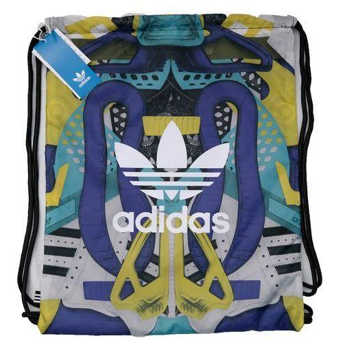 9d50a3c16e5fb ADIDAS torba plecak worek z kieszenią na zamek ceny opinie i ...