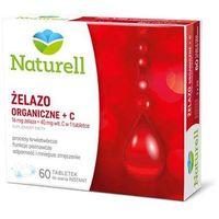 Naturell Żelazo organiczne + C - 60 tabl.