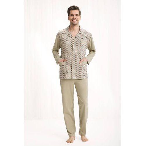 Piżama męska kod 797 rozpinana beżowy marki Luna