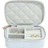 Pudełko podróżne na biżuterię loves luxury błękitne