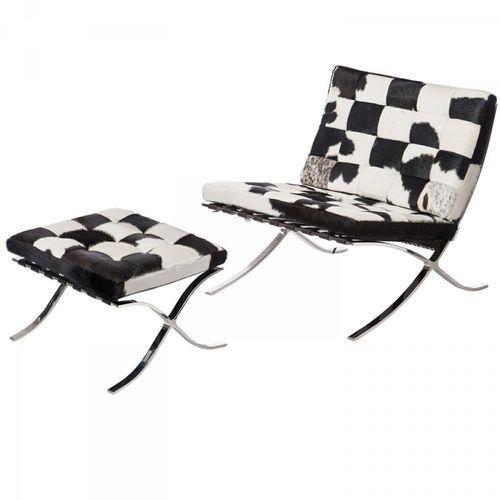 Fotel z podnóżkiem ba1 barcelona pony marki D2.design