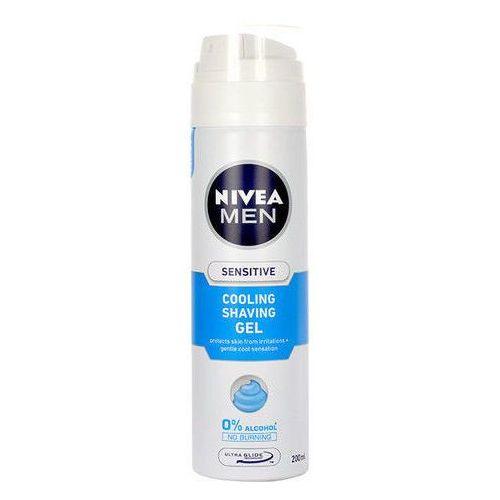 Men sensitive cooling shaving gel 200ml m żel do golenia Nivea