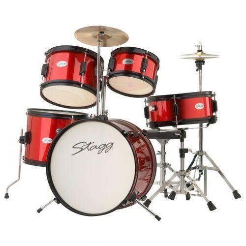 Stagg TIM JR 5/16 RD - akustyczny zestaw perkusyjny, seria Junior (0882030180941)