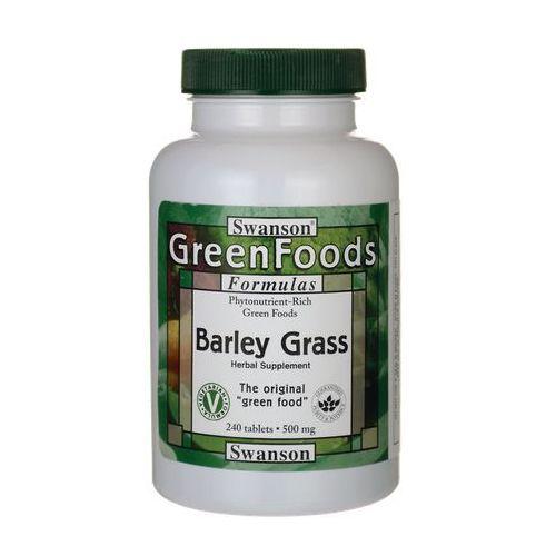Swanson Barley Grass (Sproszkowana młoda trawa jęczmienia) 500mg 240tabl