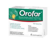 Tabletki OROFAR x 16 tabletek do ssania