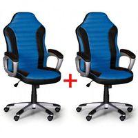 Fotel biurowy sport 1+1 gratis, czarno-niebieski marki B2b partner