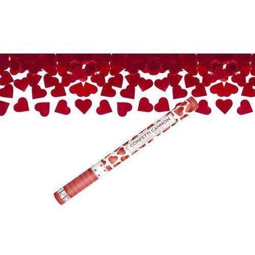 Twojestroje.pl Tuba konfetti serca czerwone 60 cm (5901157482044)