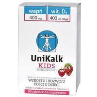 Tabletki UniKalk Kids tabletki do rozgryzania x 90 sztuk