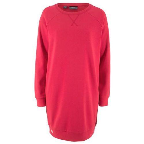 Bonprix Sukienka z frędzlami czerwono-brązowy
