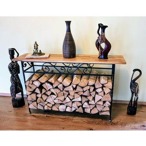 Regał na drewno kominkowe w stylu industrialnym alex 02 marki Dlb - artproject