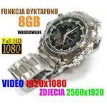 Szpiegowski Zegarek FHD na Rękę (8GB), Nagrywający Obraz/Dźwięk + Dyktafon + 4x Diody IR.