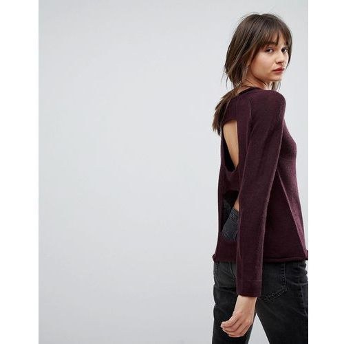 Open back wool blend jumper - red H.one