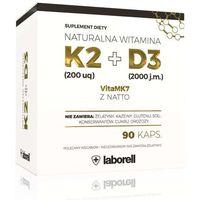 Kapsułki Naturalna Witamina K2 200 uq VitaMk7 z Natto+ D3 x 90 kapsułek