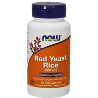Kapsułki Now Foods Red Yeast Rice 600mg 60 kaps.