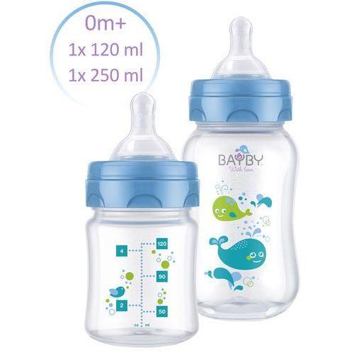 Bayby zestaw 2 butelek antykolkowych 0m+, niebieski