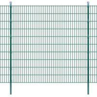 Vidaxl  panele ogrodzeniowe 2d z słupkami - 2008x2030 mm 36 m zielone (8718475984733)