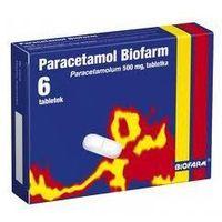 Tabletki PARACETAMOL BIOFARM x 6 tabletek