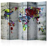 Parawan do mieszkania 5-częściowy - Świat graffiti 225 szer. 172 wys.