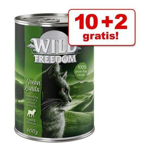 Wild freedom 10 + 2 gratis! adult, 12 x 400 g - deep forest - dziczyzna i kurczak