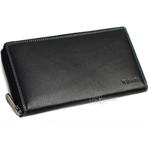 52d2d03c2cb0c colors 123-866k-1 portfel skórzany damski - czarny marki Valentini - 1