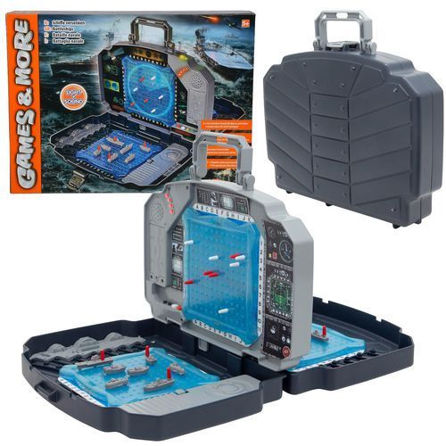 elektroniczna gra w okręty statki w walizce światło i dźwięki marki Simba