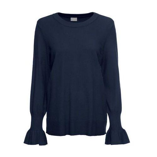 Sweter oversize, długi rękaw, z kolekcji Maite Kelly bonprix srebrny matowy, wiskoza