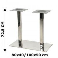 Stema - ny Podstawa stolika ny-b126 podwójna, stal nierdzewna polerowana, 2 wymiary (stelaż stolika, stołu)