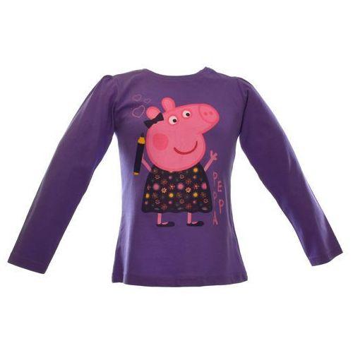 Bluzka dla dzieci z bohaterką bajki Świnka Peppa, kolor fioletowy