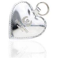 Brelok w kształcie serca srebrny