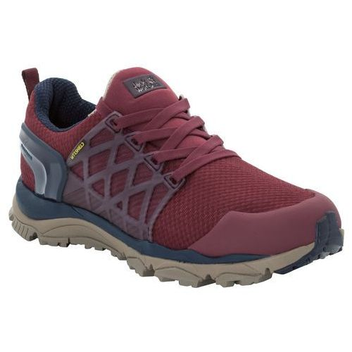 Buty na wędrówki trail invader shield low w burgundy / dark blue - 5,5 marki Jack wolfskin