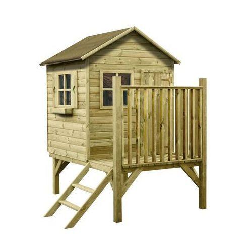 Domek dla dzieci GRZEŚ 118 x 182 x 210 cm WERTH-HOLZ (5902860165835)