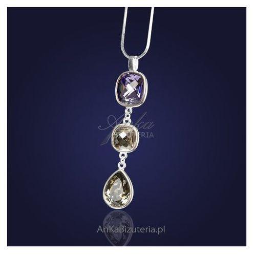 27c52dbb28c0c7 ... ankabizuteria.pl Swarowski naszyjnik srebrny z kryształami swarovski -  fioletowym i, kolor fioletowy ...