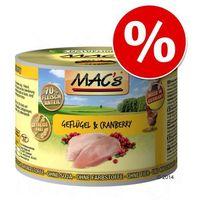 6 x 200 g mac´s cat karma dla kota w super cenie! - łosoś & kurczak marki Macs