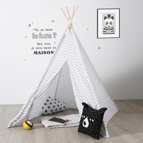 Namiot dla dzieci, INDIAŃSKI, TIPI, 120 x 120 x 160 cm, szary (3560238908068)