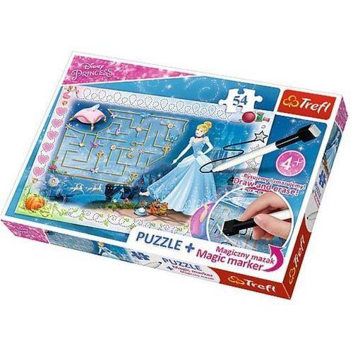 Puzzle + magický fix Princezny - hledání střevíčku/Disney 54 dílků v krabici 33x23x4cm, 83894201398GR (7008738)