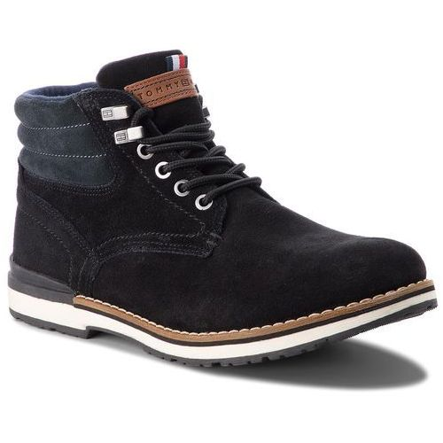 8d0935838a6e3 Trapery TOMMY HILFIGER - Outdoor Suede Boot FM0FM01748 Black 990