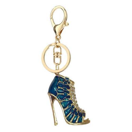 Wielka brytania Niebiesko-złoty breloczek botek do kluczy lub torebki - niebieski ||złoty