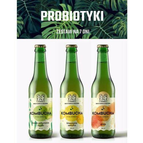 Tygodniowy Zestaw KOMBUCHY - Zdrowe Jelita! / Dieta sokowa / Detoks sokowy, 7 x 300 ml - Super upust