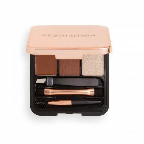 Makeup Revolution Zestaw do Brwi Brow Sculpt Kit Medium Brown - Promocyjna cena