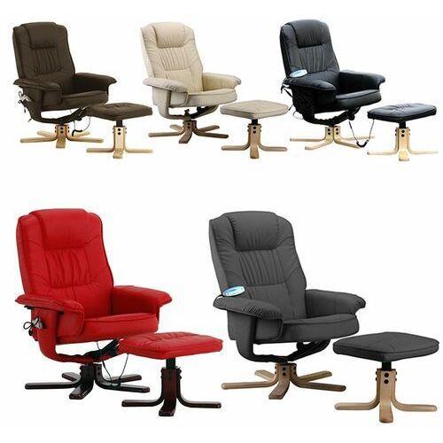 Fotel Masujący Wypoczynkowy Z Masażem Ogrzewanie Brązowy Regoline