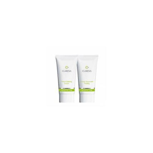 Clarena Sensitive Line, mini zestaw krem 30ml+peeling 30ml