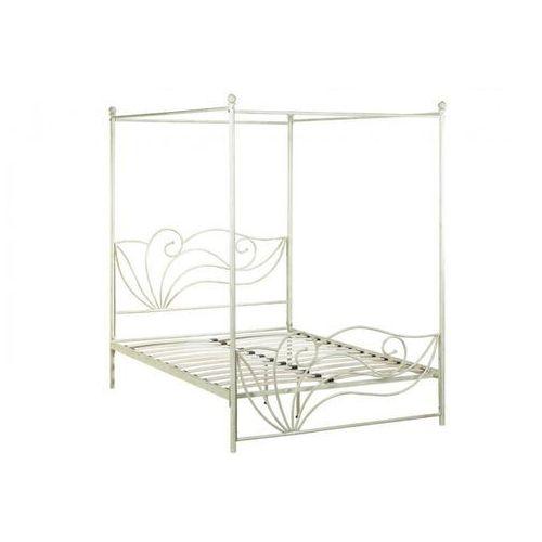 łóżko Z Baldachimem Imperatrice 140 190 Cm Metal O Wyglądzie Kutego żelaza Vente Unique