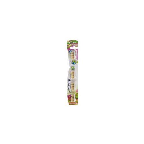 Yaweco (szczoteczki do zębów) Głowica szczoteczki do zębów na wymianę z włosia naturalnego średnia (4 szt.) yaweco