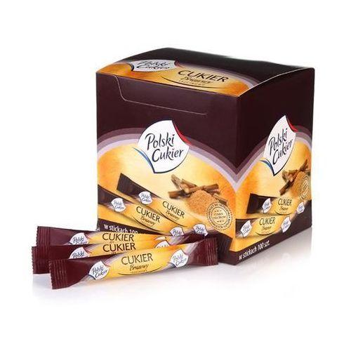 Cukier Brązowy Trzcinowy Stick Demerara 100x5 g