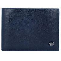 Piquadro Blue Square Special Portfel RFID skórzany 13 cm blu ZAPISZ SIĘ DO NASZEGO NEWSLETTERA, A OTRZYMASZ VOUCHER Z 15% ZNIŻKĄ